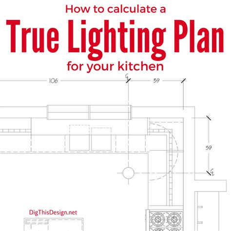 Kitchen Drawings by A True Lighting Design Plan Amp Led Technology
