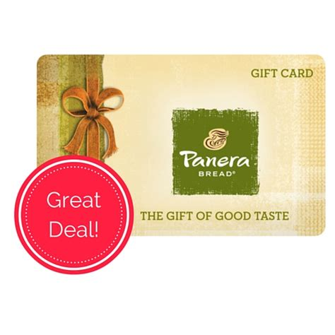 My Panera Gift Card - 15 panera gift cards just 8 50