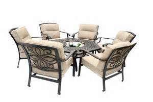 Agio Patio Dining Set Fire Pit Dining Table Set