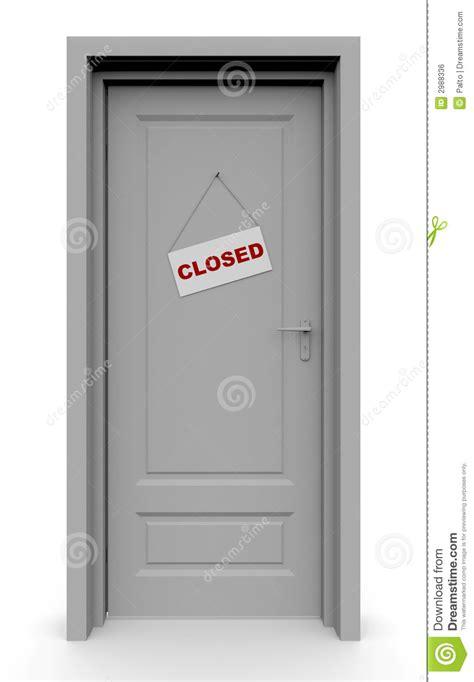 la porta chiusa a porta chiusa immagine stock libera da diritti immagine