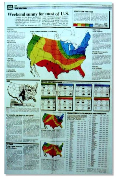 weather map of usa today usa today turns 30 part 3 a weather map that created