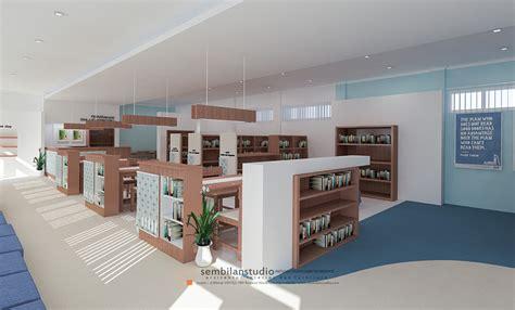 int  desain ruang interior perpustakaan  menarik