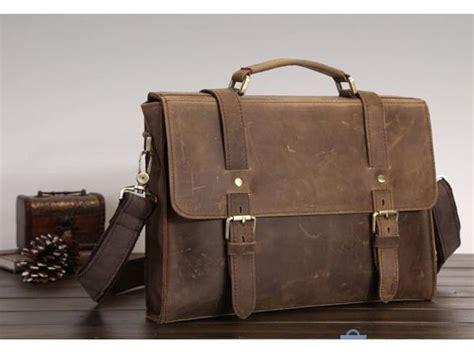 If You Fancy Winning A Vintage Laptop Bag by Premium Leather Vintage Laptop Bag In Unisex