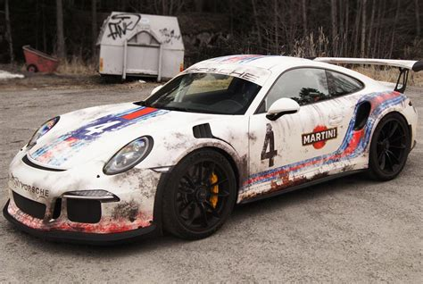 Autofolie Used Look by Porsche 911 Gt3 Rs Martini Folierung Im Race Look