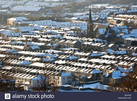buy the house accrington rooftops covered in snow accrington lancashire uk stock photo royalty free image