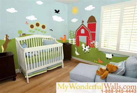 Farm Wall Mural easy technique for painting a farm theme wall mural in