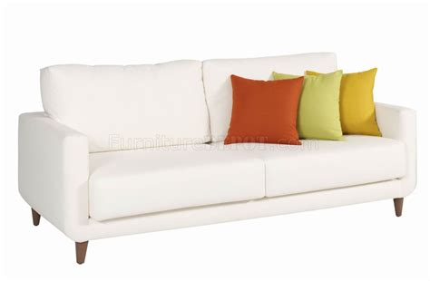 White Loveseat White Fabric Modern Sofa Loveseat Set W Optional Items