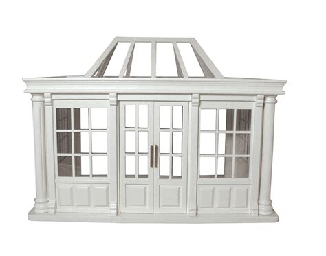 dolls house conservatory victorian deluxe dolls house conservatory in white