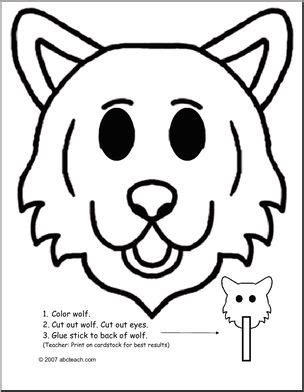 printable endangered animal masks mask endangered animal wolf abcteach