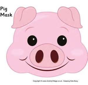 pig mask template paper pig mask template pictures to pin on