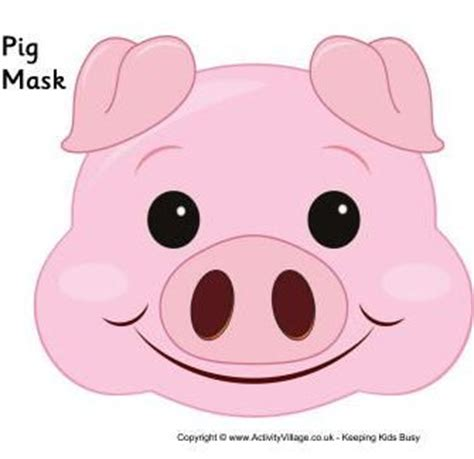 pig mask template pin pig mask template on