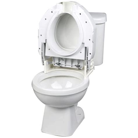 maddak secure bolt hinged elevated toilet seat raised