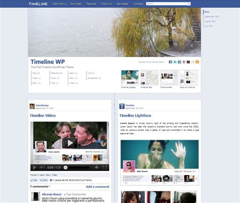 facebook themes in wordpress th 232 me wordpress facebook la timeline
