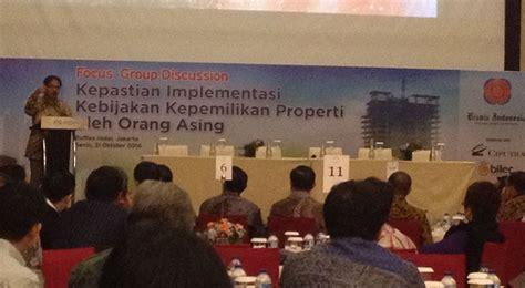 pendirian yayasan oleh orang asing menteri sofyan batasi kepemilikan properti oleh orang
