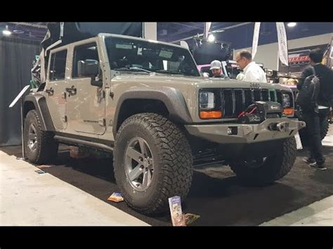 jeep pathkiller quot pathkiller quot jeep wrangler with a cherokee front end sema