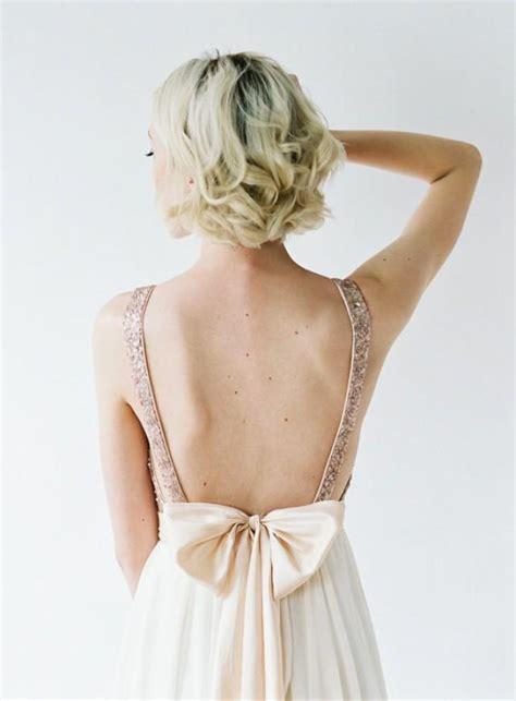 Brautkleider Blush by S Bridesmaids Gold Sequin Plunging Top