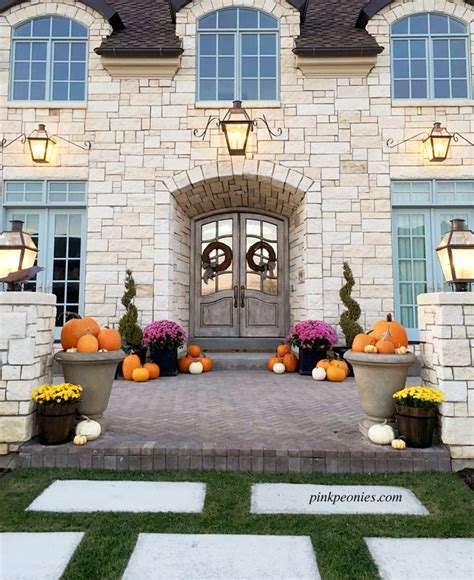 rachel parcell house halloween at home pink peonies by rach parcell