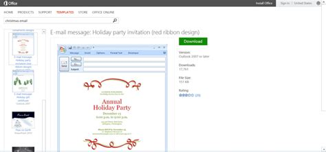 Microsoft S Best Free Diy Christmas Templates Free Email Invitation Templates For Outlook