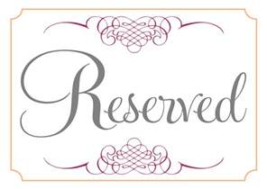 Reserved Cards For Tables Templates room reserved template calendar template 2016