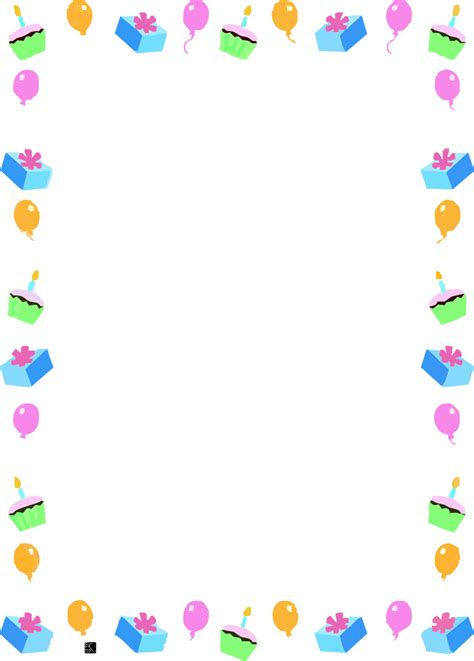 Printable Frames And Borders Free Printable Birthday Borders And Frames