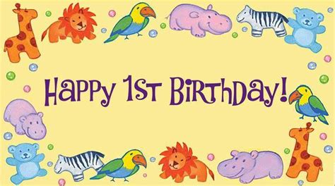 Happy Birthday 1st Year Wishes Happy 1st Birthday Images First Birthday Images