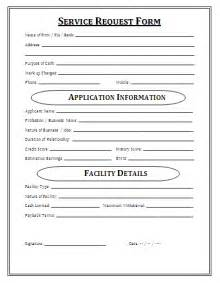 service form template service request form a to z free printable sle forms