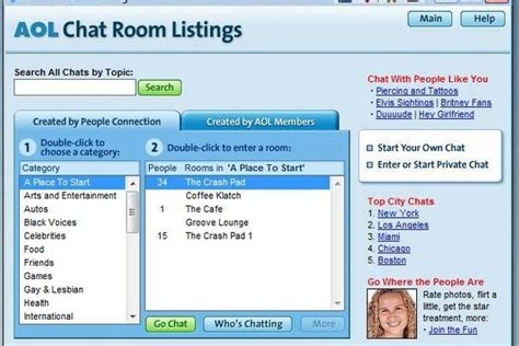 free dating chat rooms history