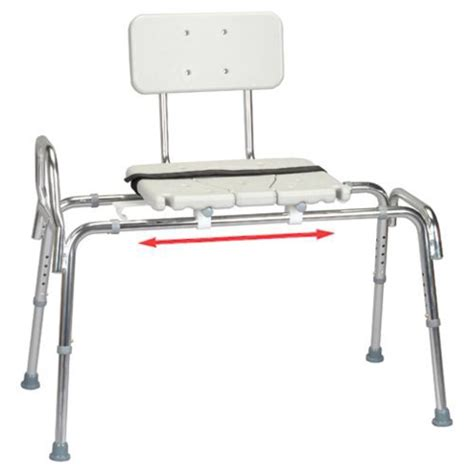 snap n save sliding transfer bench eagle health snap n save sliding transfer bench with
