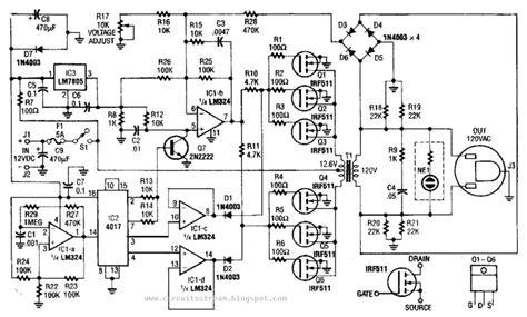 value able 40w 120vac inverter circuit diagram