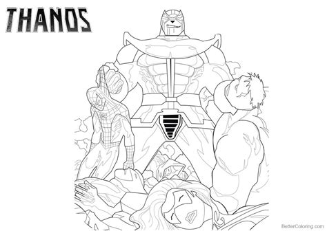 marvel thanos coloring pages thanos coloring pages with marvel characters free
