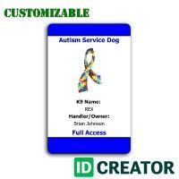autism id card template 7 best images about service id on service