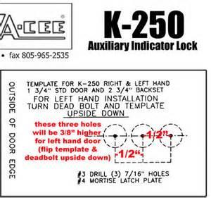 deadbolt template drill template