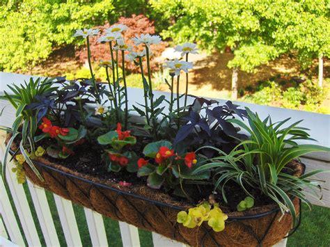 railing planters ikea planters inspiring deck railing planter boxes railing