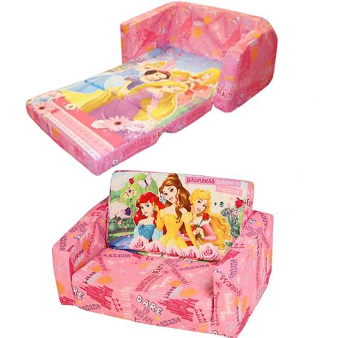 childrens foam sofa bed disney childrens flip out double foam sofa settee kids