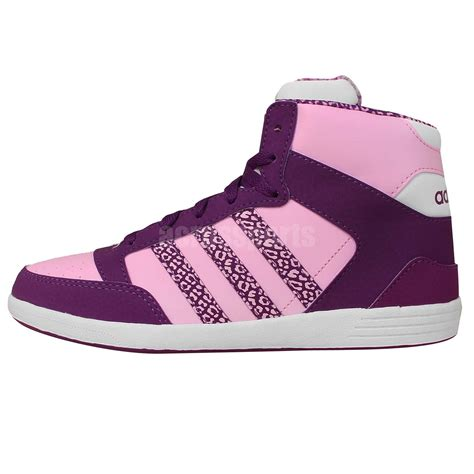 adidas bbhoops cst animal w pink purple leopard womens casual shoes neo sneakers ebay