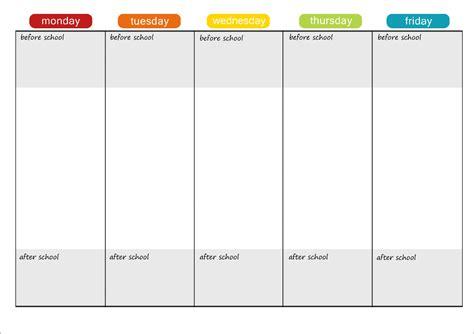 daily planner template adhd adhd homework planner