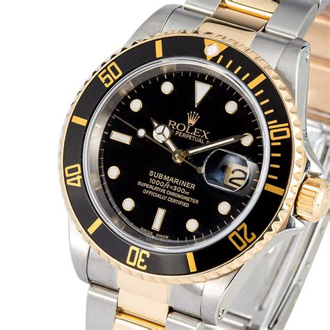 Rolex Oyster Submariner 2 rolex two tone oyster perpetual submariner 16613