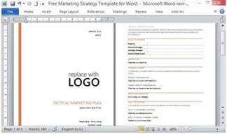 promotional strategy template free marketing strategy template for word