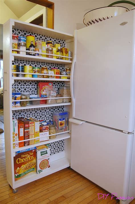Kitchen Cabinet Rolling Shelves by Diy Space Saving Rolling Kitchen Pantry Closet Diy Kitchen