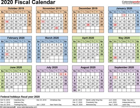 fiscal calendars   printable word templates