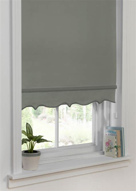 Ready Made Roller Blinds by Scallop Edge Roller Blind Grey Ready Made Roller