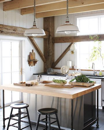 rustic kitchen lighting using vintage warehouse shades within the kitchen blog