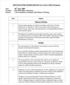 How To Type Minutes From A Meeting Template by 11 Minutes Writing Template Free Sle Exle Format