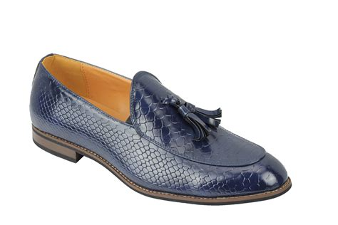 mens vintage loafers mens vintage snakeskin print shiny leather tassel loafers