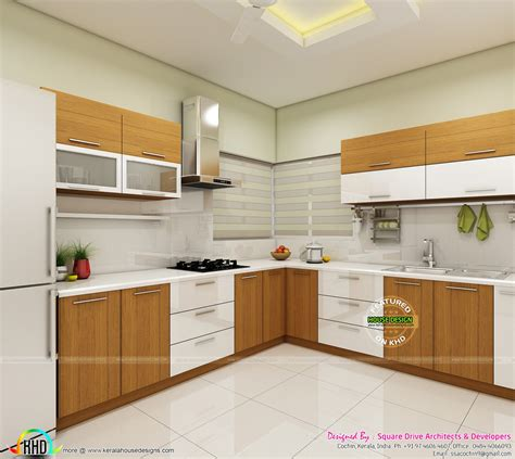 modular kitchen interior modern home interiors of bedroom dining kitchen kerala