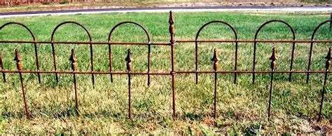 Landscape Edging Fence 16 Quot Garden Iron Edging Fence That Interlocks