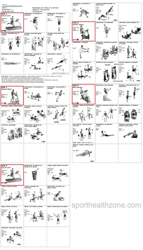 tabla de ejercicios con mancuernas para hacer en casa rutinas de ejercicios entrenamiento fitness pesas