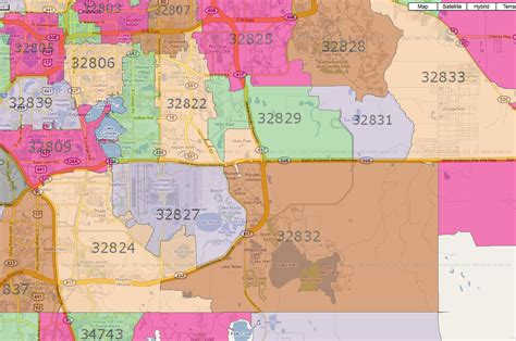zip code map of central florida south east zip orlando time home buyer guide