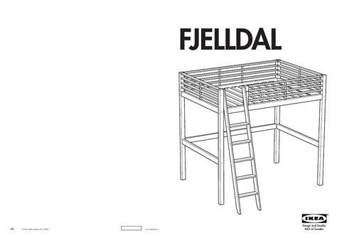 notice lit mezzanine ikea fjelldal table de lit