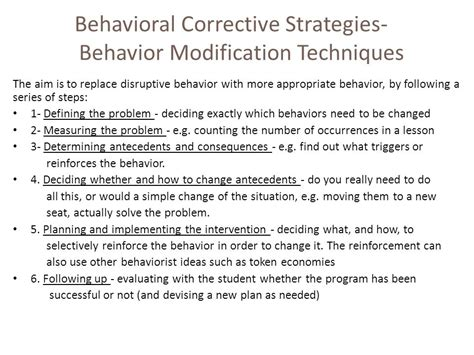 Behavior Modification What It Is And How To Do It Pdf by Disruptive Behavior In School Ppt